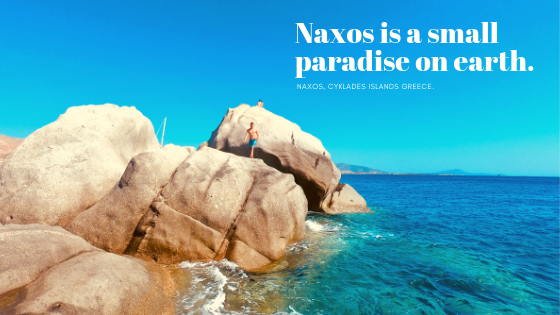 Summer Postcard from Naxos, Cyclades Islands, Greece.