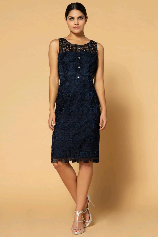 6a524b3ff146 04.123 Κλασικό κοντό φόρεμα όλο δαντέλα.