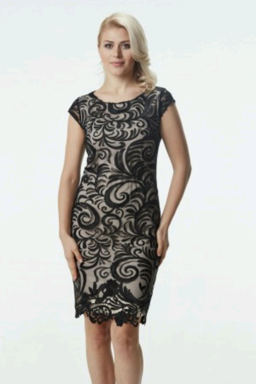 ed0c460320eb 04.153 Κλασικό κοντό φόρεμα όλο δαντέλα.