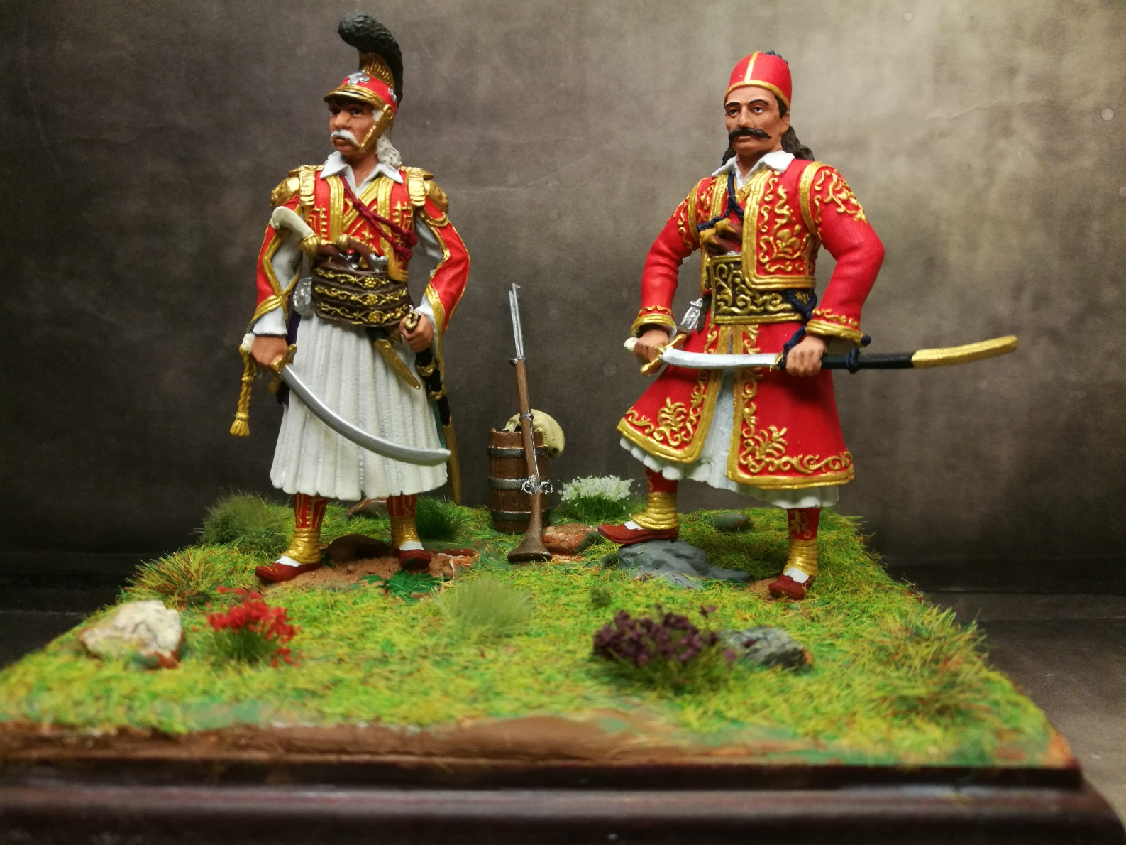 1821 , Kolokotronis, Karaiskakis, the two generals
