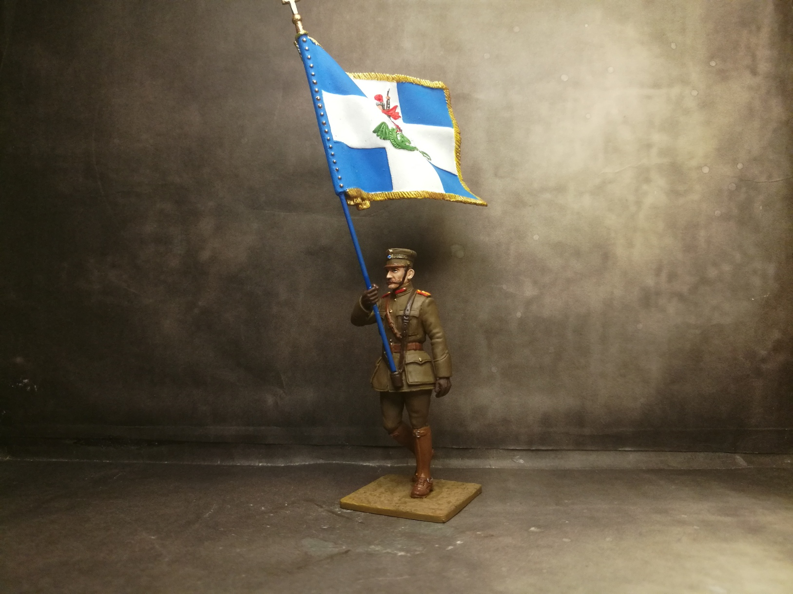 Greek Officer Standard Bearer , 1919 , WWI , Paris Parade