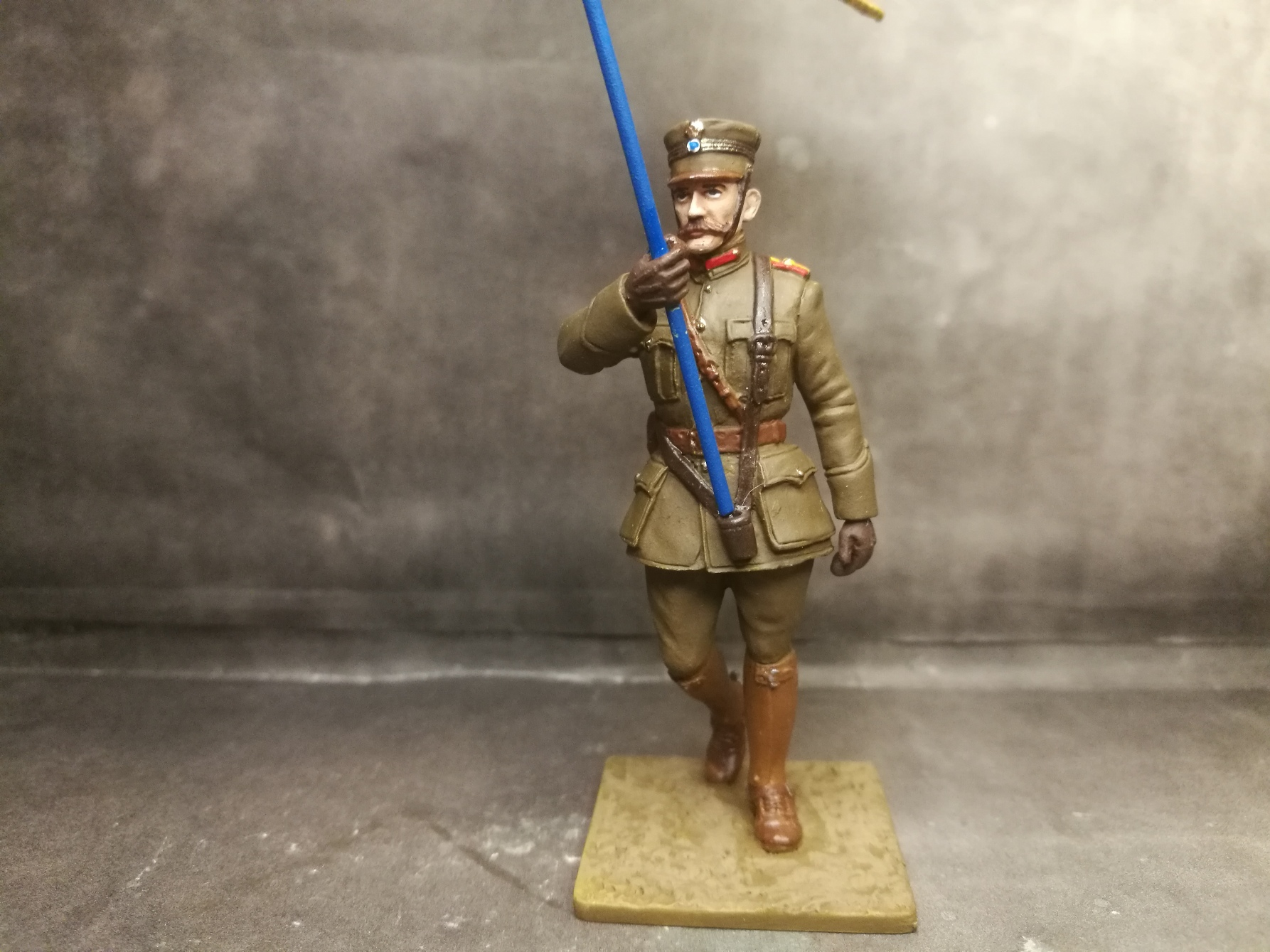 ΠερGreek Officer Standard Bearer , 1919 , WWI , Paris Paradeιγραφή εικόνας