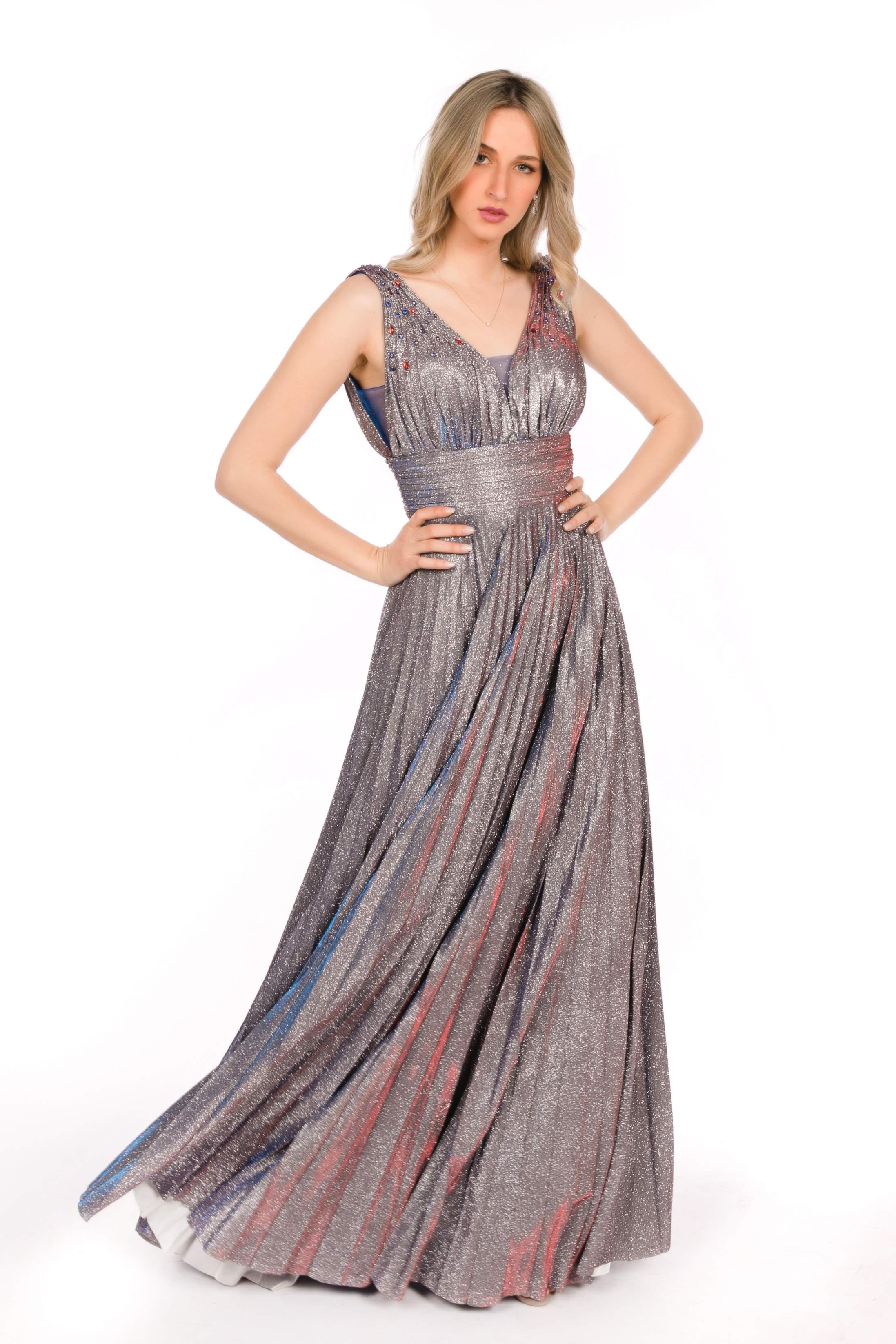 03a347d96931 ... Βραδινό φόρεμα μακρύ με κέντημα στο μπούστο και σατέν φούστα. Κωδικός   03.163