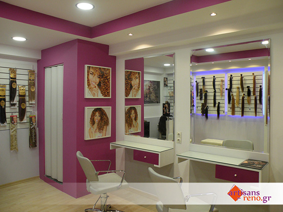 Amènagement d'espaces commerciaux,salons de coiffure,d'extensions,...