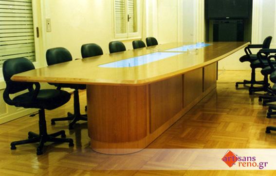 Construction spéciale d'une table de réunion pour 12 personnes