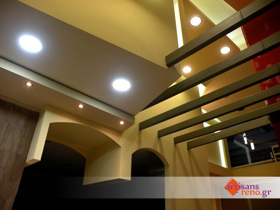 Constructions sèches décoratives dans un espace  professionnel