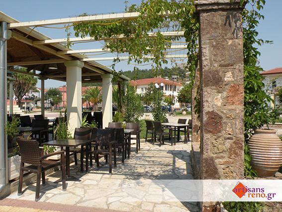 Création de l'espace extérieur d'une cafétéria