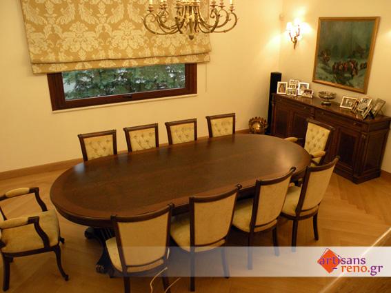 Réalisation d'une table de salle à manger, des chaises et du buffet