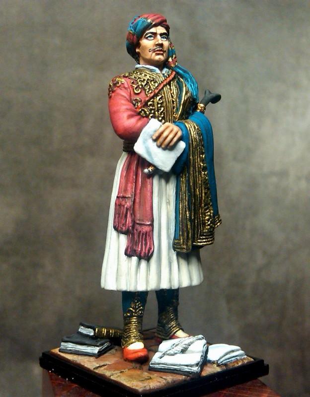 Λόρδος Βύρων + Σουλιώτικη ενδυμασία + Lord Byron in Souli outfit