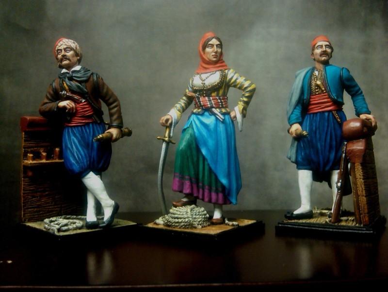 Ελληνική Επανάσταση 1821 - ΚΑΝΑΡΗΣ - ΜΠΟΥΜΠΟΥΛΙΝΑ-ΜΙΑΟΥΛΗΣ