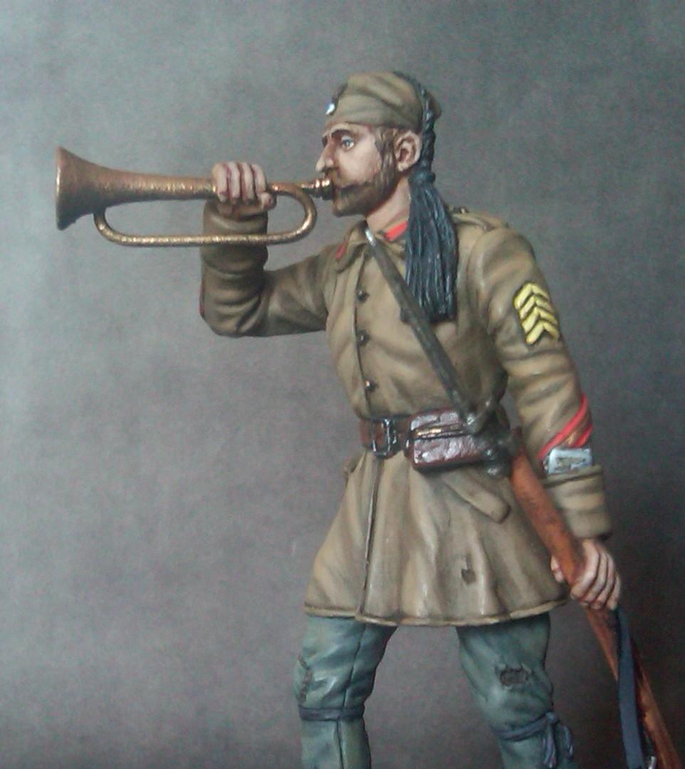 Ευζωνας, 5/42 Συνταγμα, Evzone, Trumpeter, Greek heroes, 1921, Μικρα Ασια