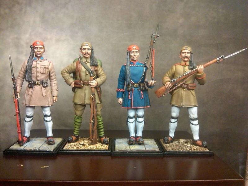 Evzone, greek army,Greek heroes, Ευζωνας, βαλκανικοι πόλεμο,μινιατούρα,ι