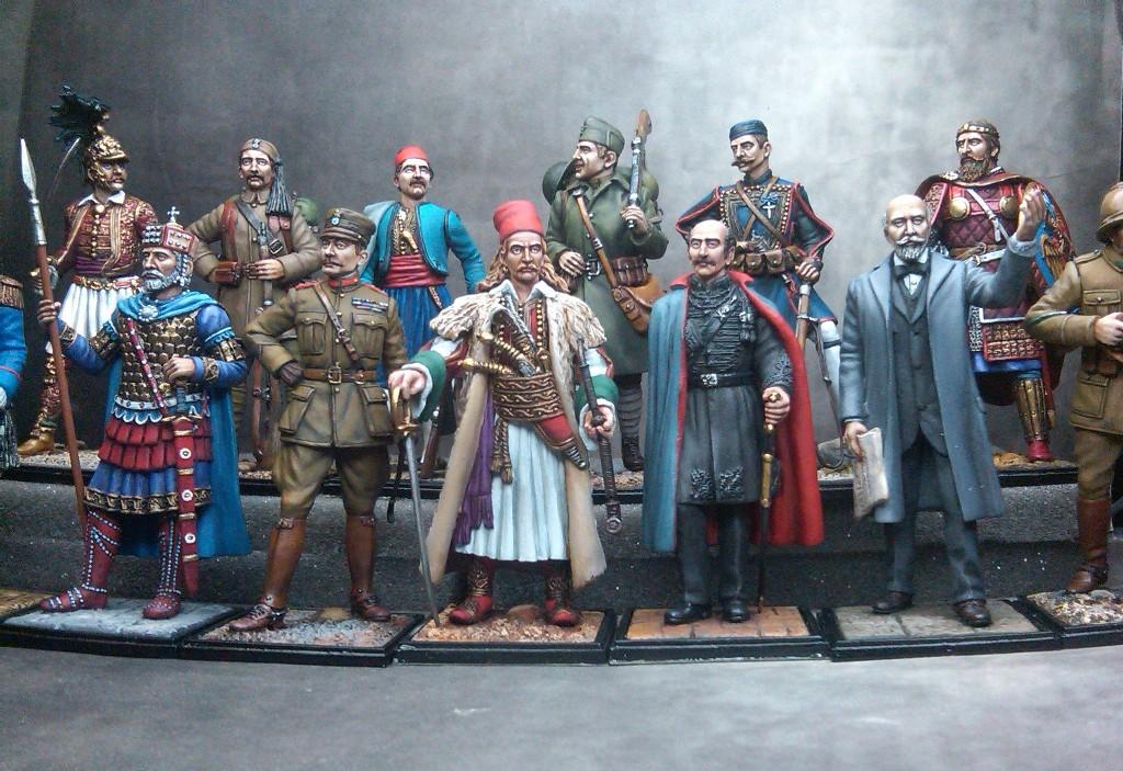 Greek heroes, miniatures, 1821, 1912 , 1940,