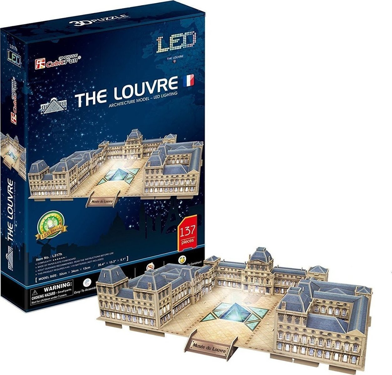 (L517h) THE LOUVRE - LED