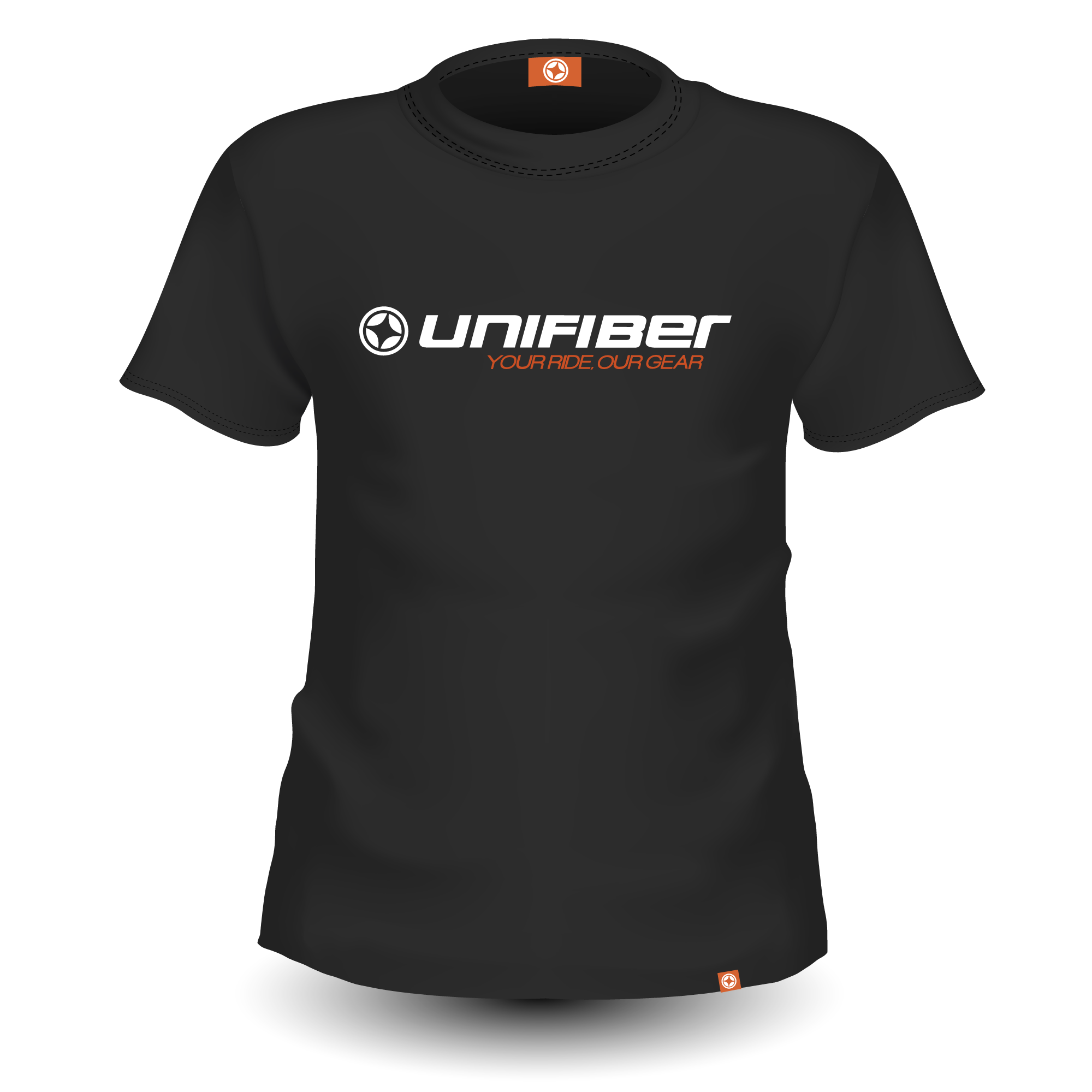 "Unifiber Tee Black ""Your Ride, Our Gear"""