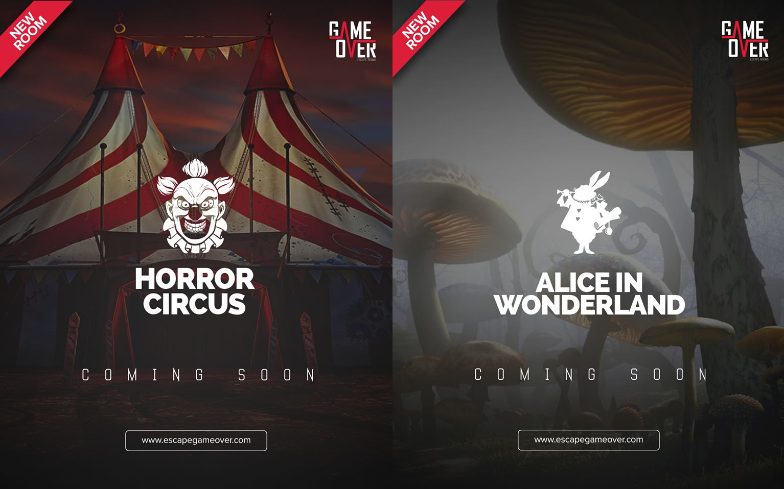 ΝΕΑ ΔΩΜΑΤΙΑ HORROR CIRCUS & ALICE IN WONDERLAND